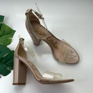 Sam Edelman Yaro Ankle Strap Sandals Clear